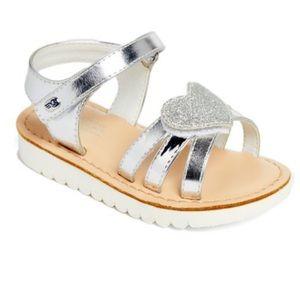 Naturino Express Silver Heart Girls Sandals